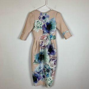 ASOS Textured Floral Dress